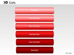 3D List checklist 11