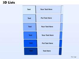 3D List checklist 47