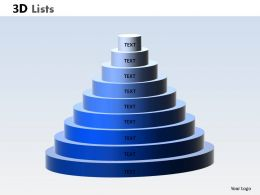 3D List Circular 1 Powerpoint Slides