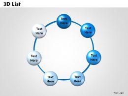 3D List circular 3