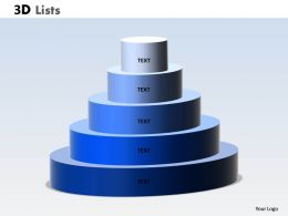 3D List Circular Design With 5 Staged
