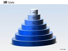 3D List Circular Design With 7 Stages