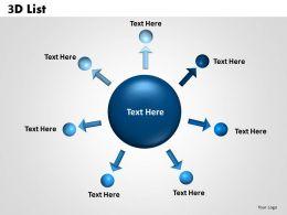 3D List circular diagram 2