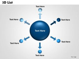 3D List circular diagram 3