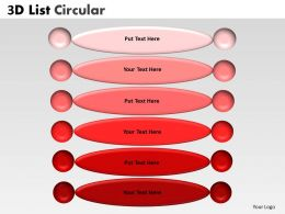 3D List Circular diagram 4