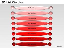 3D List Circular diagram 6
