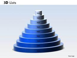 3D List Circular Diagram For Business