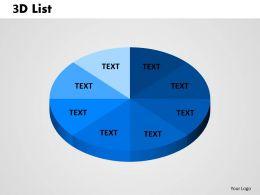 3D List circular Pie 1