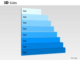3D List Diagram For business Process Display