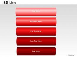 3D List Flowchart