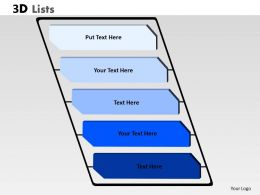 3D List Layout