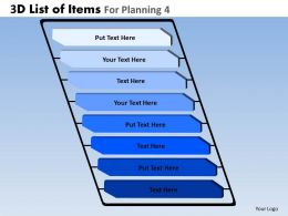 3D List Of Items For Planning 4 Powerpoint Slides And Ppt Templates DB