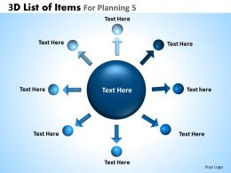 3D List Of Items For Planning 5 Powerpoint Slides And Ppt Templates DB