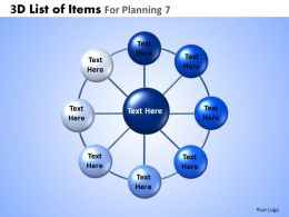 3D List Of Items For Planning 7 Powerpoint Slides And Ppt Templates DB