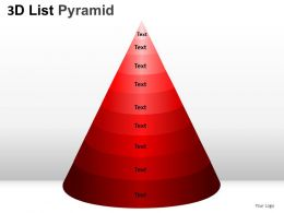 3D List Pyramid 2 Powerpoint Presentation Slides