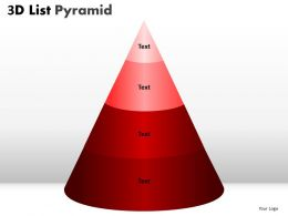 3D List Pyramid 4 Stages