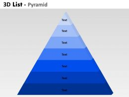 3D List Pyramid 7 Stages For Marketing