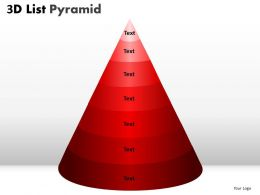 3D List Pyramid Diagram With 7 Stages