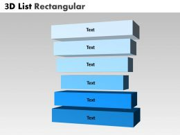 3D List Rectangular Stages 6