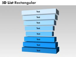 3D List Rectangular Stages diargam 8