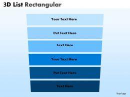 3D List Rectangular Style diagram 8