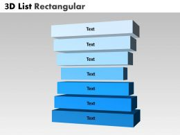 3D List Rectangular With 7 Stages