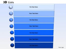 3D List With 7 Stages For Sales Process