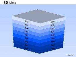 3D Lists Powerpoint Slide 12