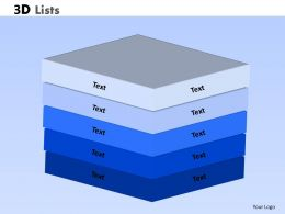 3D Lists Powerpoint Slide