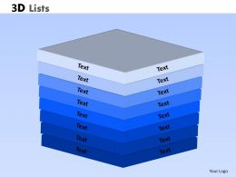 3D lists Powerpoint Slides And Ppt 12