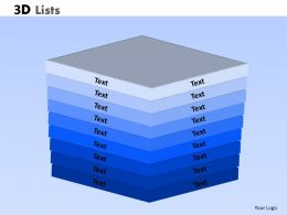 3D lists Powerpoint Slides And Ppt Templates 0412