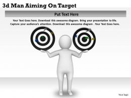 3d Man Aiming On Target Ppt Graphics Icons Powerpoint