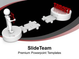 3d Man And Puzzle With Target Business PowerPoint Templates PPT Themes And Graphics 0113