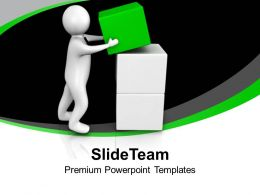 3d Man Arranges Cubes In Place Business PowerPoint Templates PPT Themes And Graphics 0213