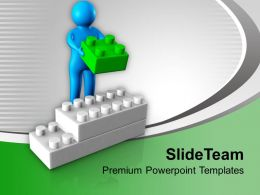 3d Man Arranges Lego Blocks Business PowerPoint Templates PPT Themes And Graphics 0213