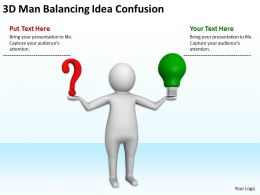 3D Man Balancing Idea Confusion Ppt Graphics Icons Powerpoint