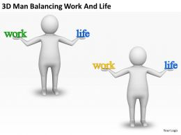 3D Man Balancing Work And Life Ppt Graphics Icons Powerpoint
