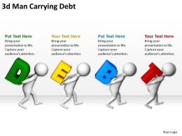 3D Man Carrying Debt Ppt Graphics Icons Ppt Graphics Icons