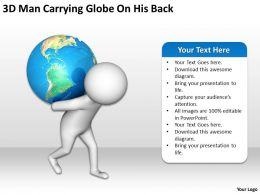 3D Man Carrying Globe On His Back Ppt Graphics Icons