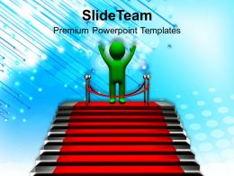 3d Man Celebrating Success Powerpoint Templates PPT Themes And Graphics 0113