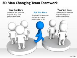 3D Man Changing Team Teamwork Ppt Graphics Icons