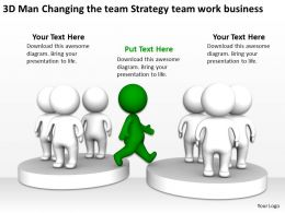 3D Man Changing the team Strategy team work business Ppt Graphics Icons