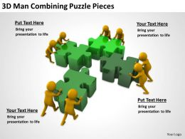 3D Man Combining Puzzle Pieces Ppt Graphics Icons Powerpoint