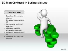 3D Man Confused In Business Issues Ppt Graphics Icons