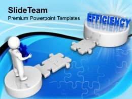 3d Man Corss Path To Efficiency Business Powerpoint Templates Ppt Themes And Graphics