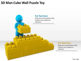 3D Man Cube Wall Puzzle Toy Ppt Graphics Icons Powerpoint