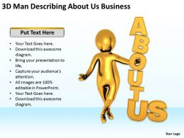 3D Man Describing About Us Business Ppt Graphics Icons Powerpoint
