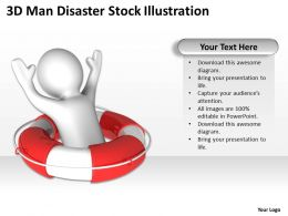 3D Man Disaster Stock Illustration Ppt Graphics Icons