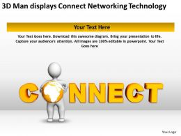 3D Man displays Connect Networking Technology Ppt Graphics Icons