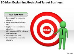 3d_man_explaining_goals_and_target_business_ppt_graphics_icons_powerpoint_Slide01